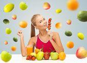 picture of healthy eating girl  - healthy eating - JPG
