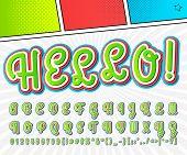 pic of alphabet  - Creative high detail comic font - JPG
