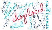 picture of local shop  - Shop local word cloud on a white background - JPG