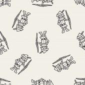 stock photo of archer  - Archer Doodle - JPG