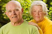 picture of elderly couple  - Senior couple in love - JPG