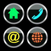 Contact icons for design.