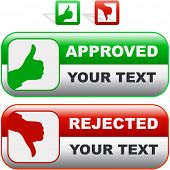 Approved and rejected buttons.