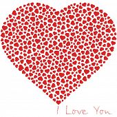 I love you. Love message.