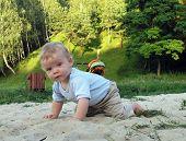 Boy In Sand Catcher
