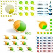 Business statistics vector. Diagram set.