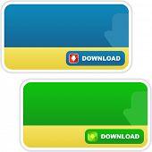 Download banner set. Vector set for web.
