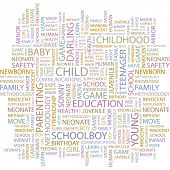 CHILD. Word collage on white background. Vector illustration.