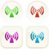 Communication buttons . Vector set.
