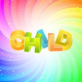 CHILD. Rainbow 3d illustration.