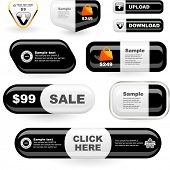 Vector set of sale design elements isolated on white background.