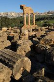 temple, Dioscuri, agrigento, valley, sicily, italy