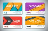 Постер, плакат: Set Of Gift Cards In The Style Of The Material Design