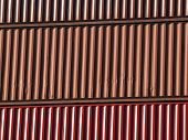 Close-up Of Shipping Containers Stacked On Top Of Each Other