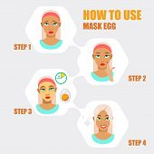 Face Mask. Beauty Girl With Face Mask. Different Face Mask Moisturizing, Nourishing, Cleansing, Reju poster