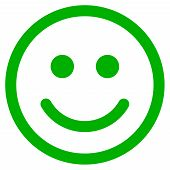 Glad Smiley Vector Pictogram. Illustration Style Is A Flat Iconic Symbol. poster