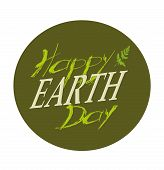 Planets And Green Leaves. April 22. Happy Earth Day. Earth Day Card. Earth Day Design. Vector Illust poster