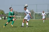 KAPOSVAR, HUNGARY - SEPTEMBER 5: Janos Balogh (white 10) in action at the Hungarian National Champio
