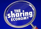 The Sharing Economy Working Job Tasks Gigs 3d Illustration poster
