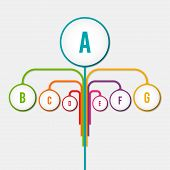 : Abstract Diagram Tree Infographic Elements Concept With Stage, Human, Parts Elements. Data Infogra poster
