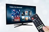 Video On Demand Vod Application Or Service On Smart Tv poster