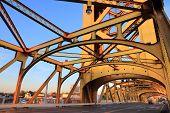 Tower Bridge - Infrastructure In Sacramento, California, Usa. poster