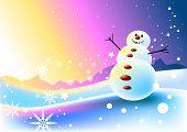 Happy Snowman Scene