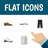 Icon Flat Dress Set Of Man Shoe, Gumshoes, Sleeveless Tank And Other  Objects. Also Includes Footwar poster