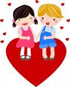 jongen en meisje vallen in liefde