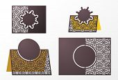 Laser Cut Ornamental Vector Template. Table Number, Place Card, Wedding Seats Card, Table Card Guest poster