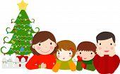 Happy family,merry christmas