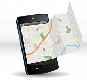 Mapa de rua no dispositivo Mobile Smartphone