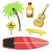 Surfing Active Water Sport Surfer Summer Time Beach Activities Windsurfing Jet Water Wakeboarding Ki poster