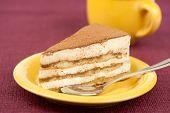 Plate Of Tiramisu Cake