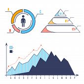 Set Bar Chart Diagram Infographic Elements Concept With Stage Elements. Creative Business Infographi poster