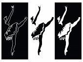 Ballet dancer banners vector