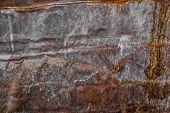Dark Worn Ruty Metal Background. Rusty Metal Texture. Corroded Metal. Old Metal Background. Metal Sh poster