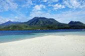 foto of camiguin  - Camiguin Island Facing Volcano near the sunken cemetery - JPG