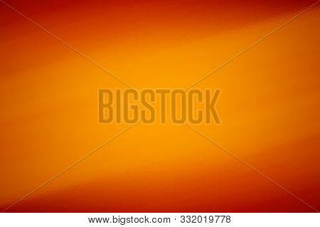 poster of Orange Abstract Background With Glass Texture, Design Pattern Template With Copyspace