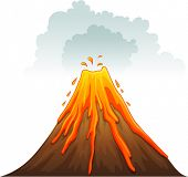 Illustration of a volcano erupting - EPS VECTOR format also available in my portfolio.
