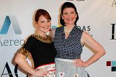 NEW YORK-MAY 17: The Casserole Queens (Crystal Cook, Sandy Pollock) attend the IAC And Aereo Officia