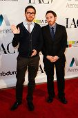 NEW YORK-MAY 17: Amir Blumenfeld and Dan Gurewitch of MTV's College Humor attend the IAC And Aereo O