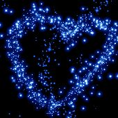 stock photo of soulmate  - stars in the shape of a heart in the night sky - JPG