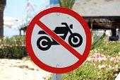 No Motorbikes Sign
