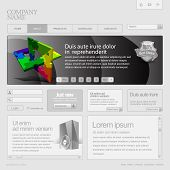 Gray Website Template 960 Grid.
