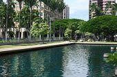Outside State Capitol, Honolulu, Hawaii