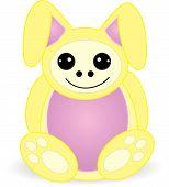 Cuddly Bunny Creature - Vector