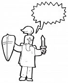 image of arthurian  - medieval knight cartoon - JPG