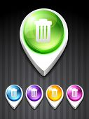 vector dustbin icon design art