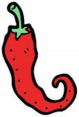 cartoon red chili pepper
